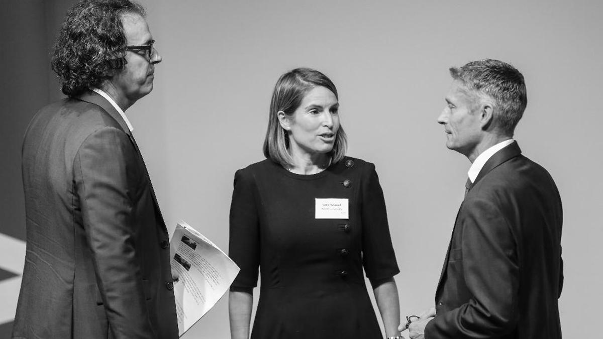 Magenta founder Cathy Hayward at a meeting of the IWFM London region