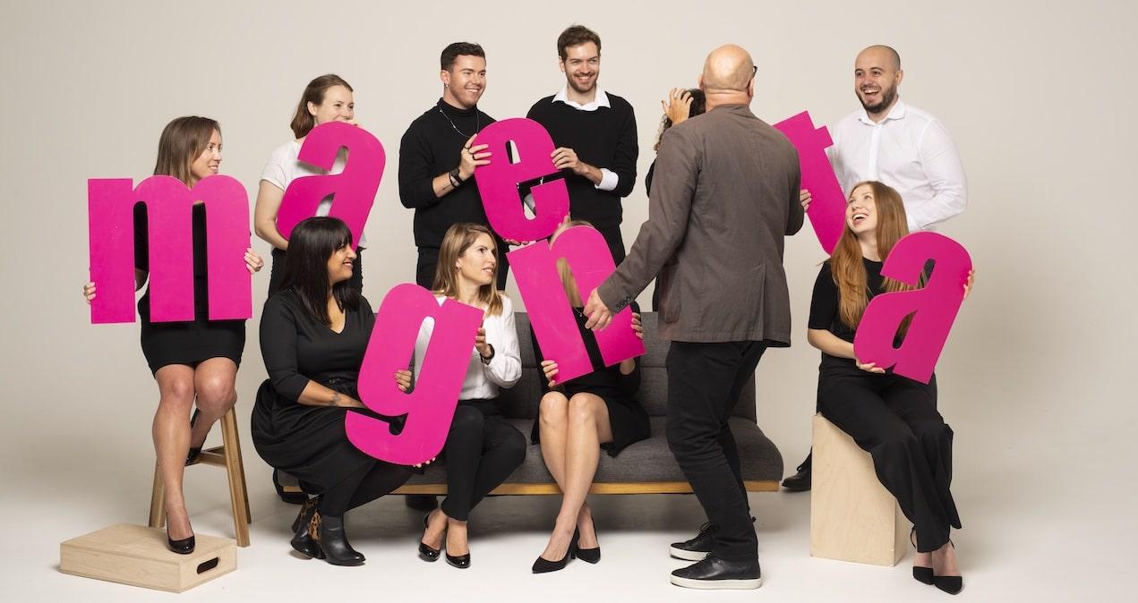 Group photo of the Magenta Associates PR agency