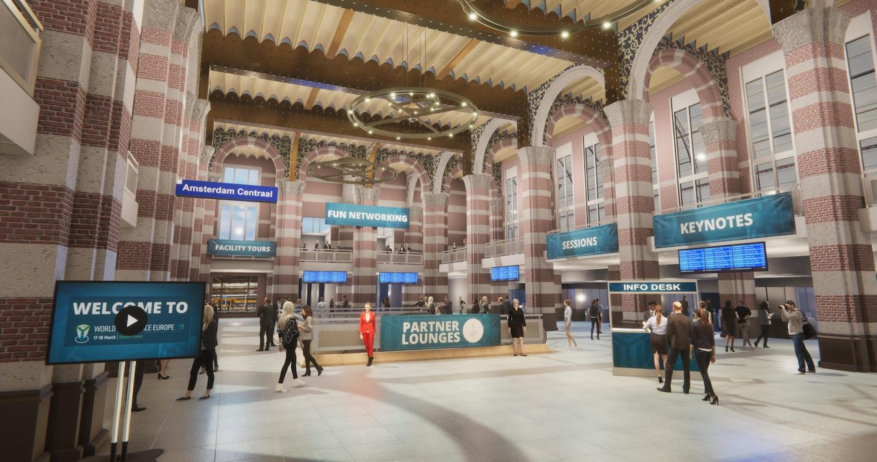 World Workplace Europe virtual conference lobby