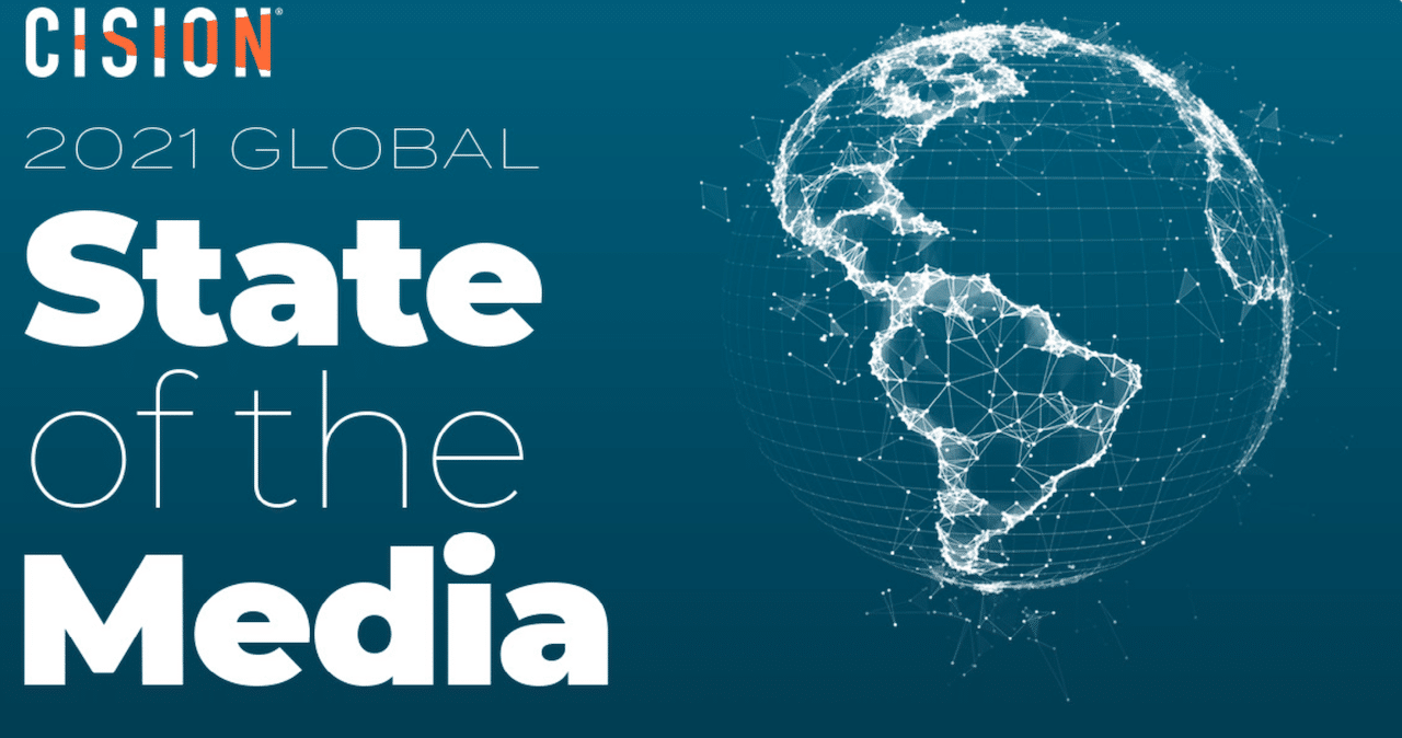 The front page of Cision's 2021 Global State of the Media Report